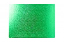 "14""X10"" Oblong Green Double Thick Cards"