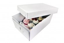 14cm Tall Cupcake Box: 12 count