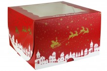 "Christmas Cake Box - 10"" - Pack of 25"