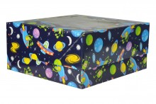 4 Count Cupcake Boxes - Blue Spaceships - Pack of 100