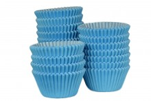 Bulk Packed: Professional Muffin Cases - Sky Blue