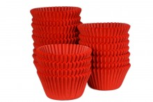 Bulk Packed: Professional  Muffin Cases - Red