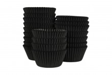 Bulk Packed: Professional  Muffin Cases - Black