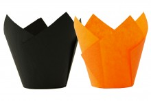 Scrumptious : Tulip Wraps - Orange & Black - Pack of 50