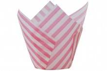 Scrumptious : Tulip Wraps - Pink Stripe - Pack of 50