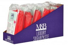 M&B Luxury Sugarpaste : Red - 6 x 250g