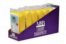 M&B Luxury Sugarpaste - Yellow - 6 x 250g