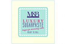 M&B Luxury Sugarpaste - Ivory - 2 x 2.5kg
