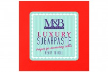 M&B Luxury Sugarpaste - Red - 10kg