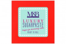 M&B Luxury Sugarpaste : Red - 2 x 2.5kg BBE September 2021