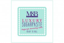 M&B Luxury Sugarpaste - White - 2 x 2.5kg