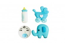 Sugar Assorted Baby Decorations (Retail Packed)