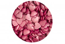 Sugar Glimmer Hearts: Deep Pink
