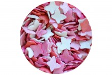 Sugar Glimmer Butterflies: Pink Mix