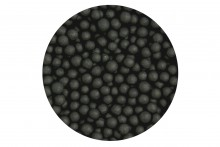 Sugar 4mm Pearls: Matt Black