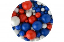 Sprinkletti Bubbles: Red, White and Blue