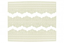 Cake Lace Strips - Scallop and Straight Edge Serenity - Pack of 3