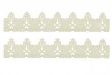 Cake Lace Strips - Juliet - Pack of 2