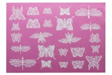 Lace Mat: Beautiful Butterflies