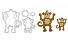 Mummy & Baby Monkey Cutter