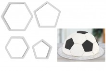 PME Football Pattern Cutter - Set of 4
