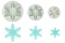 Snowflake Cutter Plunger: Set/3