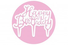 PME Cake Topper Cutter : Happy Birthday - Script