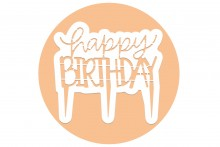 PME Cake Topper Cutter : Happy Birthday - Modern