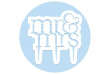 PME Cake Topper Cutter : Mr & Mrs - Modern