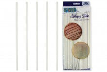 "PME : 20cm / 7.9"" Lollipop  Sticks - Pack of 25"