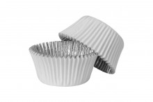 White Foil Lined Baking cases- Pack of 30