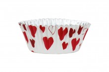 PME : Hearts Foil Lined Baking Cases - Pack of 30