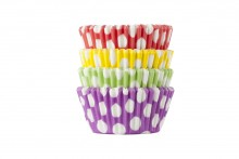 45gsm Premium Quality Muffin Cases: Spotty Dots