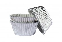 Professional Foil Muffin Cases Silver