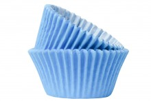 Professional Quality Muffin Cases - Sky Blue
