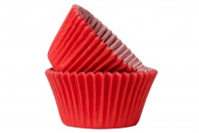 Professional Quality Muffin Cases - Red