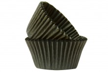 Professional Quality Muffin Cases - Black