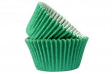 Professional Quality Muffin Cases - Dark Green