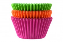 Professional Quality Muffin Cases - Neon