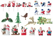 120 Piece Assorted Christmas Decorations