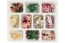 75 Piece Assorted Christmas Decorations