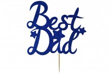 Cake Topper - Best Dad - Navy Blue