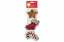 Wilton : Christmas Star, Stocking and Candy Cane Cutter Set