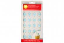 Wilton : Royal Icing Decorations - Mini Snowflakes - Pack of 24