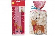 Wilton : Standard Treat Bags - Reindeer - Pack of 20