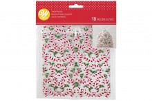 Wilton : Drawstring Treat Bags - Candy Canes - Pack of 18