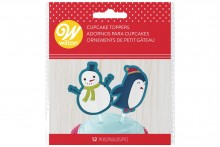 Wilton : Snowman and Friends Cupcake Toppers