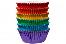 Wilton : Standard Foil Baking Cases - Metallic Rainbow - Pack of 72
