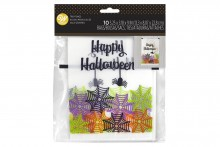 Wilton : Bakery Bag - Happy Halloween Spider & Web - Pack of 10