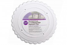 Wilton : Decorator Preferred Scalloped Edge Separator Plate - 6""